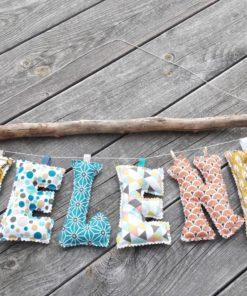 guirlande prénom avec lettres en tissu Helena