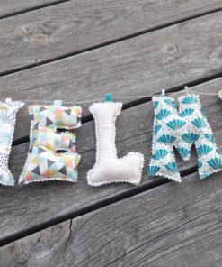 guirlande prénom avec lettres en tissu Thelma