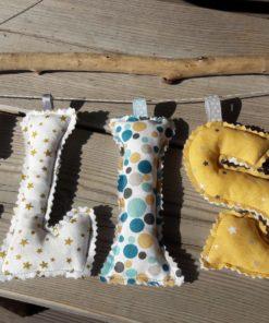 guirlande prénom avec lettres en tissu Elisa