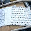 Mouchoir en tissu doublé, lavable, économique et écologique
