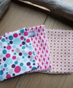 Carré démaquillant femme enfant en coton bio zero dechet