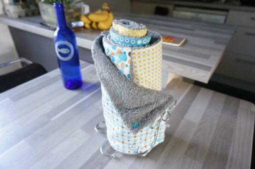 sopalin écologique lavable en tissu coton et éponge
