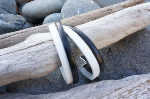 Bracelet artisanal en cuir de qualité pour femme fait au pays basque