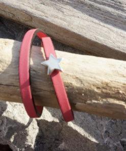 Bracelet fin en cuir pour femme -fait main -miloo fée main