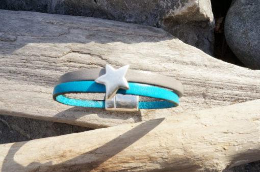Bracelet artisanal en cuir femme ou enfant fait main