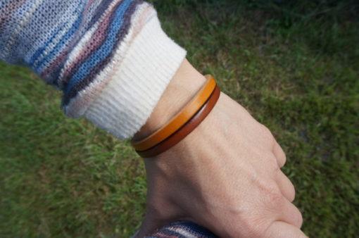 Bracelet fait main en cuir femme ou enfant miloo fee main