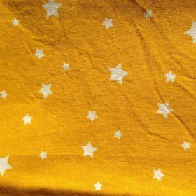 Tissu en coton jaune étoiles