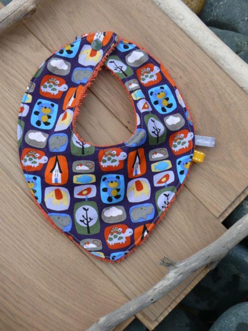 Bavoitr bebe bandana en tissu personnalisé fait main