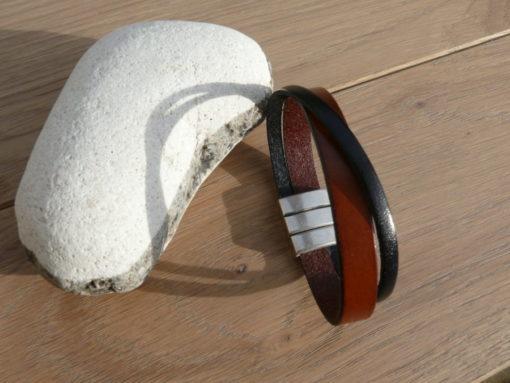 Bracelet homme cuir fermoir magnétique