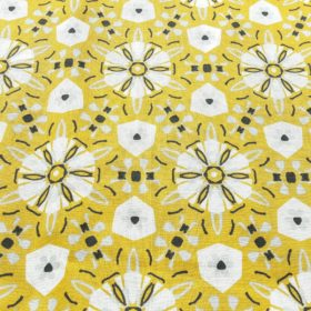 Tisu fleur jaune et gris
