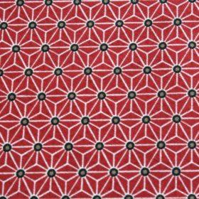 Tissu rouge forme asymétrique, tissu coton fudji