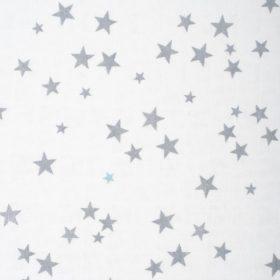 tissu étoile grise et bleu turquoise