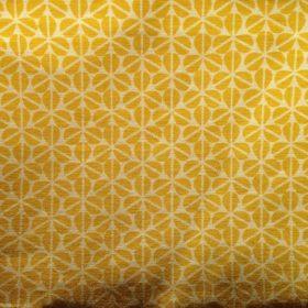 tissu jaune motif fleur trefle