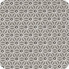 tissu noir et blanc géométrique modèle saki