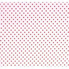 tissu à pois fond blanc pois rouge