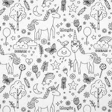 Tissu pour coloriage noir et blanc licorne, lavable, zéro déchet