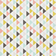 tissu triangle pastel girly jaune, rose, gris, bleu
