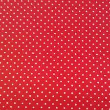 Tissu à pois rouge en coton oekotex