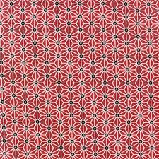 Coton enduit rouge motif graphique