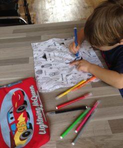feuille de coloriage lavable pour enfant, tissu à colorier, zéro déchet