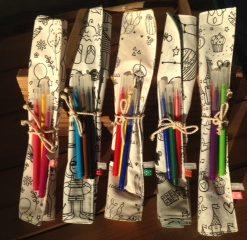 Feuilles de coloriage, set à colorier avec 3 feutres