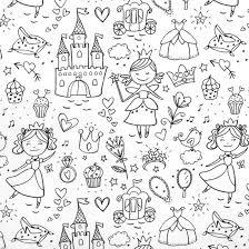 feuille de coloriage princesse, château, baguette magique