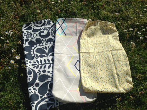 sac en tissu lavable et réutilisable pour votre pain ou baguette