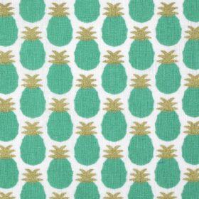 tissu ananas vert