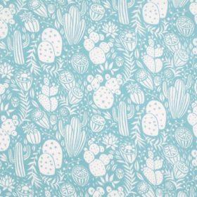 tissu enduitcactus bleu