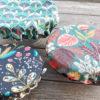 charlottes enduites avec tissu fleuri
