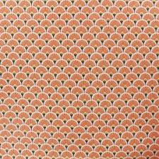 Tissu coton orange éventail