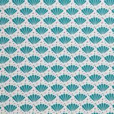 tissu oekotex éventail bleu