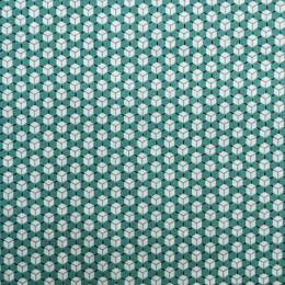 tissu bleu oekotex cuby