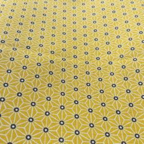 tissu oekotex jaune et noir asymétrique