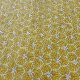 Tissu fleur jaune modèle Riad