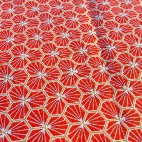 Tissu rouge modèle riad
