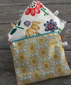 pochettes en tissu alternatives zéro déchet