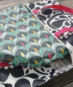 sac à tarte avec plat recouvert de charlotte enduite zéro déchet