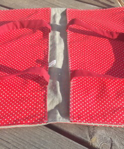 sac à tarte en tissu enduit pour transporter gâteau ou quiche