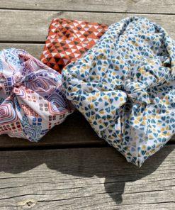 différents tissu pour emballage furoshiki