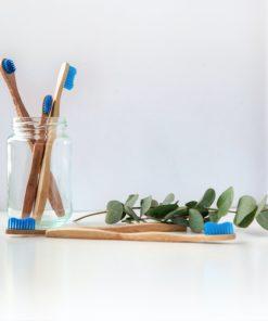 brosse à dents en bambou salle de bain réutilisable