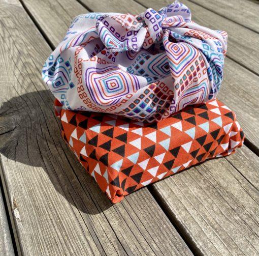 emballage furoshiki zéro déchet nouvelle manière d'emballer les cadeaux ou les objets