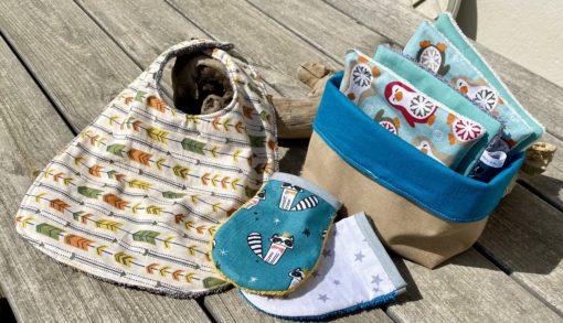 kit de naissance avec accessoires écologique et zéro déchet