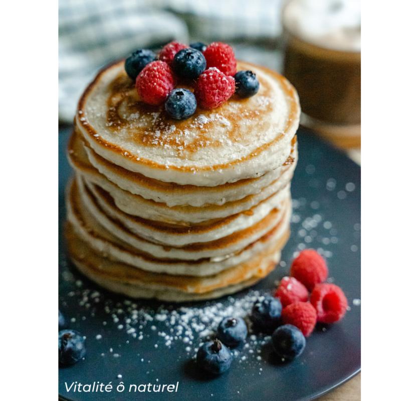 recette de pancakes rapide, avec de la banane et du riz comme base