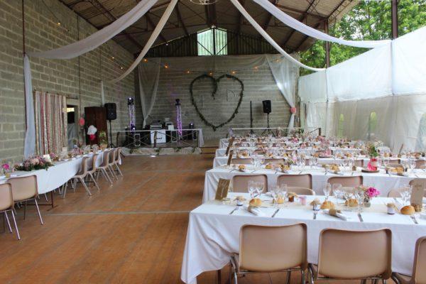 salle de réception et décoration pour un mariage éco-responsable