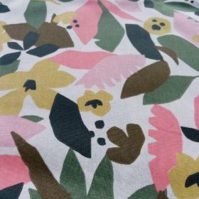 tissu nature fleuris