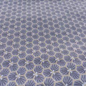tissu pastèque bleu et gris